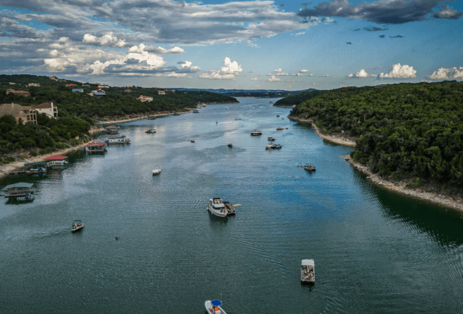 Lake Travis in Austin Texas